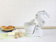 Flour mixer tool for bakery preparing Stock Photos