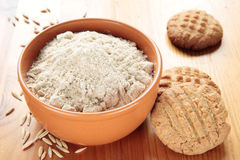 Flour of oat and oat cookies Stock Images