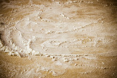 Flour over wood Royalty Free Stock Photo