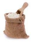 Flour in sack Royalty Free Stock Photo