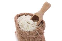 Flour in sack Stock Image