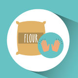 Flour sack dessert concept Royalty Free Stock Images