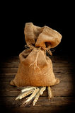 Flour in a sack Stock Image