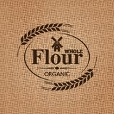 flour sackcloth texture background Royalty Free Stock Image