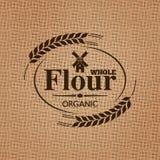 Flour sackcloth texture background Royalty Free Stock Image
