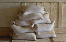 Flour sacks Stock Photography