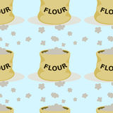 Flour seamless background design Stock Photo