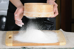 Flour sieved Stock Photography