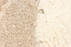 Flour - smooth and wholegrain types Royalty Free Stock Image