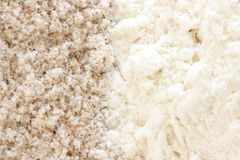 Flour - smooth and wholegrain types Stock Image