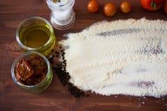 Flour and spices Stock Photos