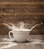 Flour Splash Royalty Free Stock Photography
