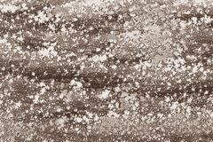 Flour spread on a table in a bakery store royalty free stock photos