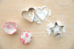 Flour with star and heart shape Stock Photography