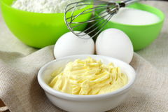 Flour sugar butter eggs Stock Image