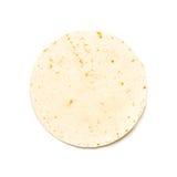 Flour Tortilla. On White Background stock image