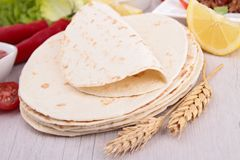 Flour tortillas Stock Photography