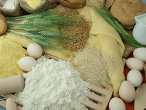 Flour and wheat Stock Images