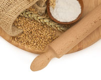 Flour with wheat Royalty Free Stock Image