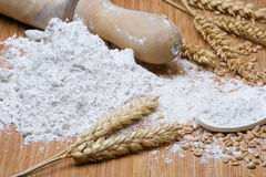 Flour. And wheat. Grain And Cereal Product Stock Image