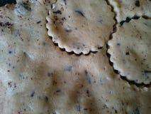 Floured包括表面为做曲奇饼准备 免版税库存图片