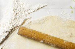 Floured the dough Stock Photography