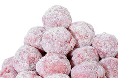 Floured raw meatballs Royalty Free Stock Photography
