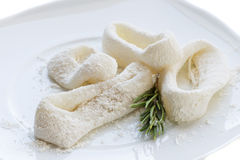 Floured squid rings Stock Photo