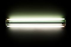 Flourescent Light. Fluorescent light in black and white Stock Photos