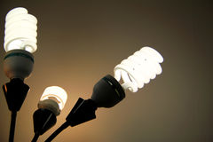 Flourescent Lights. Bright, flourescent lights glowing in a dark room Royalty Free Stock Image