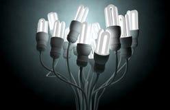 Flourescent Twisted Lights Stock Photos