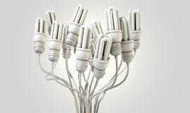 Flourescent Twisted Lights Stock Photography