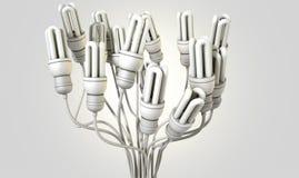 Flourescent Twisted Lights Stock Image