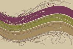 flourish предпосылки волнистый Стоковое Изображение
