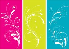 Flourish. Three flourish design isolated on a white background stock illustration