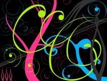 Flourish background. Contemporary flourish style background illustration Stock Photo