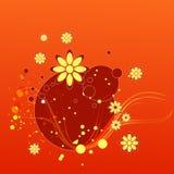 Flourish Backgrounds. Illustration of flourish backgrounds is isolated on color backgrounds royalty free illustration