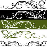 Flourish Banner. An image of a flourish banner set vector illustration