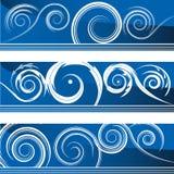 Flourish Banner Set. An image of a set of flourish swirl banners vector illustration
