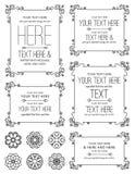 Flourish-Blumenrahmen u. Elemente Lizenzfreie Stockbilder