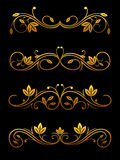Flourish borders and dividers royalty free illustration