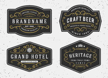 Flourish calligraphy frame design for labels, banner Royalty Free Stock Images
