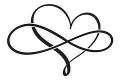 Flourish calligraphy vintage heart. Illustration vector hand drawn EPS 10.  vector illustration