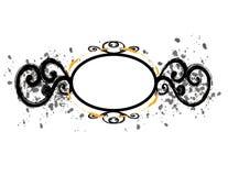 Flourish circolare nero del blocco per grafici Immagine Stock