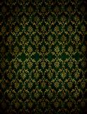 Flourish classical wallpaper. Absract retro green flourish classical template royalty free stock photos