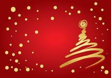 Flourish da árvore de Natal ilustração stock