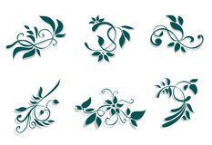 Flourish decorations Royalty Free Stock Photo