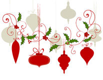 Flourish delle bagattelle di Natale Fotografie Stock