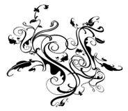 Flourish design. Element isolated on background Royalty Free Stock Photos