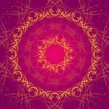 flourish design background. Abstract pink and yellow flourish background.  illustration Stock Image